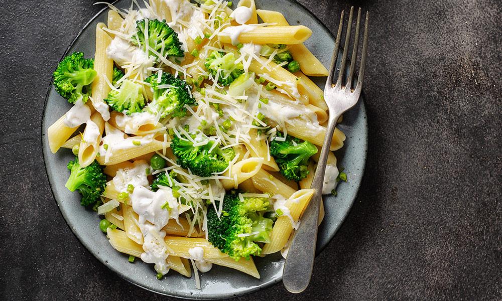 Receta de pasta con brócoli y queso