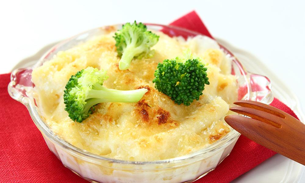 Receta de brócoli y coliflor con gratinado picante